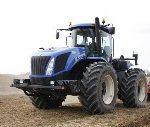 new holland t9 190 150x127 Amerykańskie giganty na polach Rosji, ciągniki New Holland i John Deere + Horsch Tiger w uprawie   VIDEO