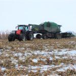 DSCF7225 2 150x150 Pech kombajnu John Deere WTS 9560 w zimowym docinaniu kukurydzy   FOTO