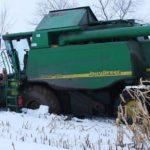 John Deere WTS 9560 zimowa wtopa 150x150 Żniwa 2018, kombajny John Deere S790i i Case IH 8230 w pszenicy – FOTO