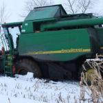 John Deere WTS 9560 zimowa wtopa 150x150 Żniwa z John Deere na Kujawach – 6 jeleni w akcji   FOTO