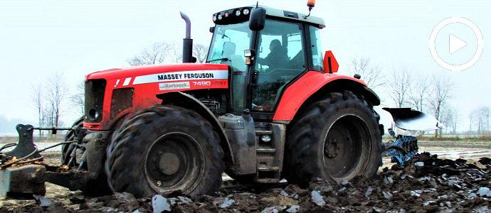 W zimowej orce: Massey Ferguson 7490 Dyna VT i Lemken Europal - VIDEO