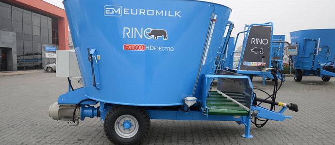 EUROMILK Rino Electro – wóz paszowy dla mniejszych gospodarstw