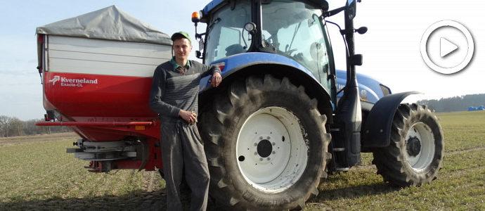 Nawozy 2018. W polu New Holland T6 + Kverneland Exacta-CL - VIDEO