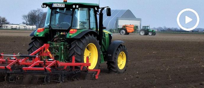 Wiosna w polu 2018: Deutz-Fahr Agroplus 310 + Amazone UX4200 oraz John Deere 5085M + AMJ Agro