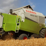 Claas Mega 360 zniwa 2019  film 150x150 Żniwa 2019   Claas Lexion 540C 4x4 w pszenicy   VIDEO