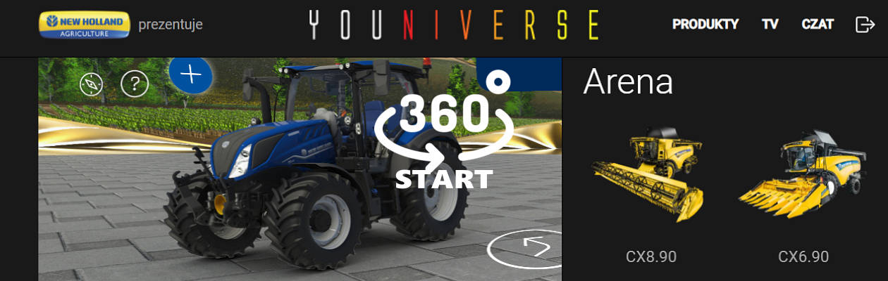 New Holland wirttualne ekspo billboard video e targi rolnicze 2021   wirtualne ekspozycje
