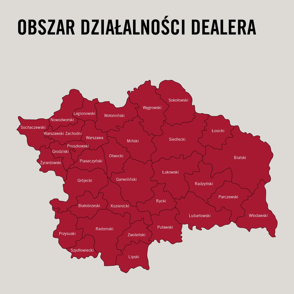CaseIH mapa AGRO SERWIS DS Nowy autoryzowany Dealer Case IH i Steyr
