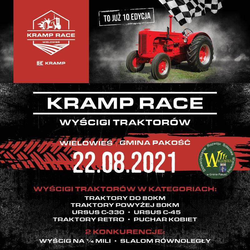Kramp Race 2021 Wyścigi traktorów w Wielowsi startują po raz dziesiąty   Zapraszamy na Kramp Race 2021