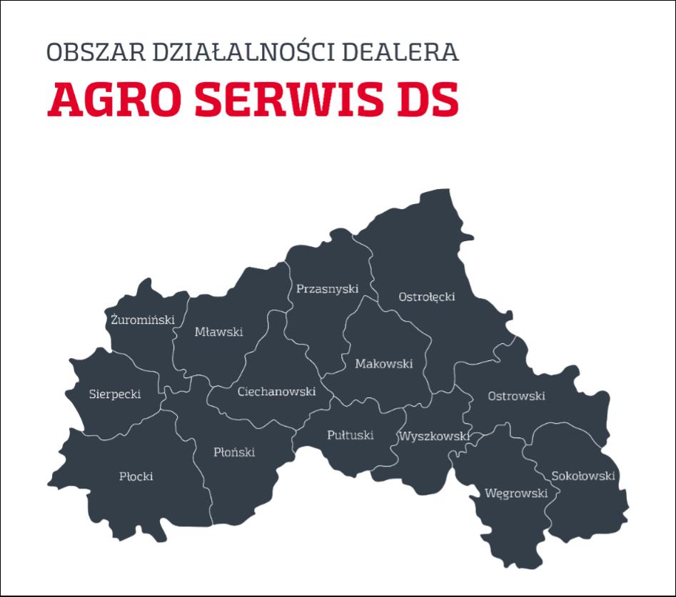 Steyr mapa Agro Serwis Nowy autoryzowany Dealer Case IH i Steyr