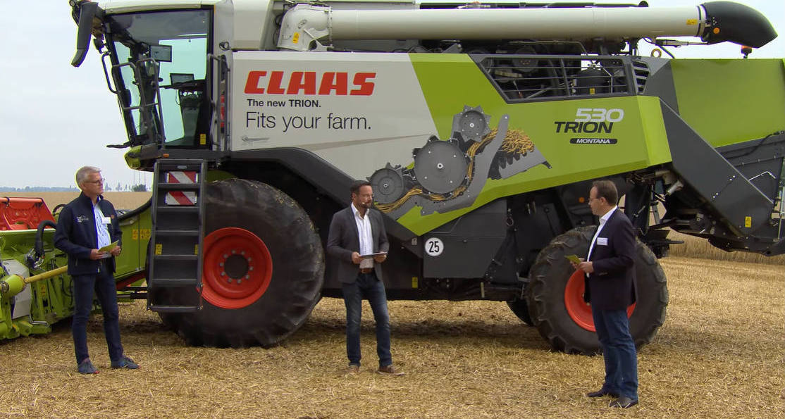 Claas 0002 CLAAS wprowadza nową serię TRION wśredniej klasie kombajnów